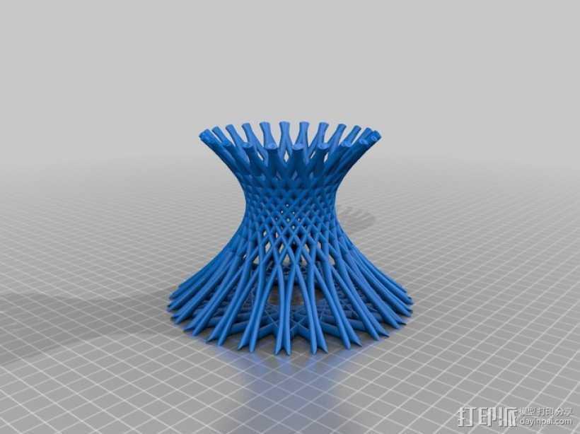 镂空花瓶  3D打印模型渲染图