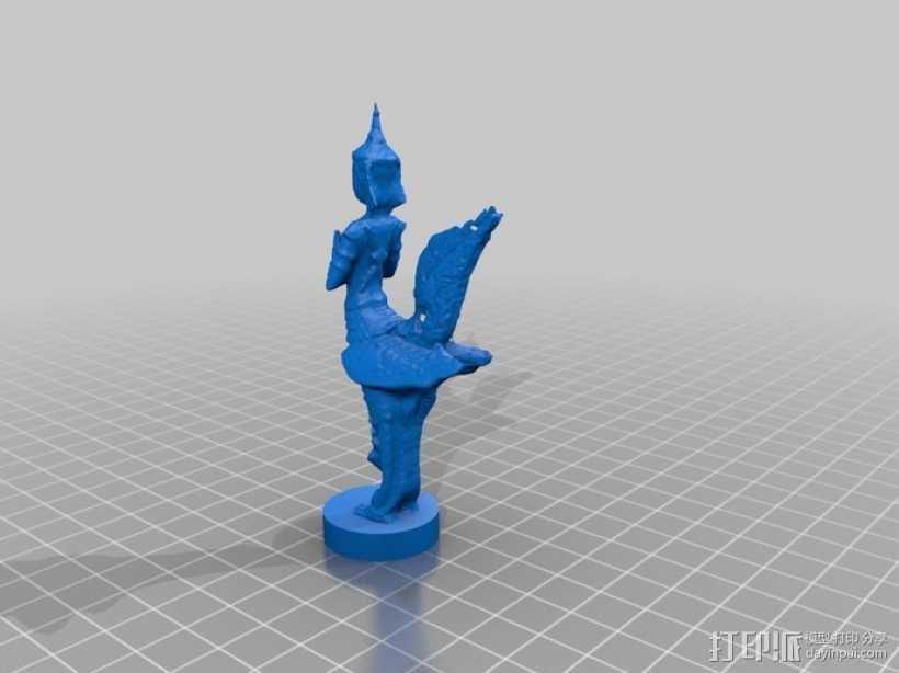 鸟人雕塑模型 3D打印模型渲染图