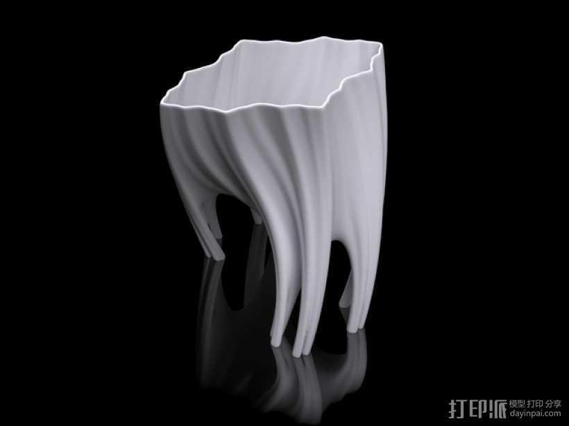 根型花瓶 3D打印模型渲染图