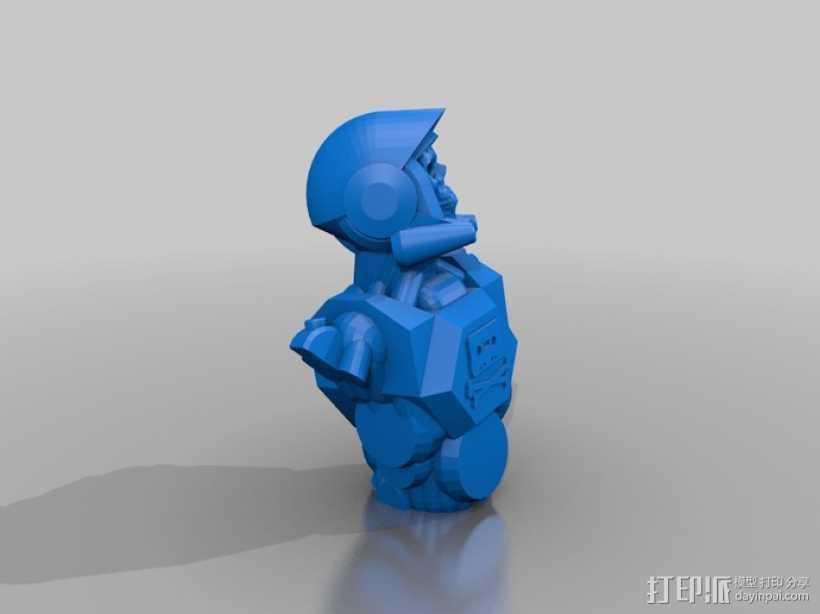 骷髅头钢铁战士 3D打印模型渲染图