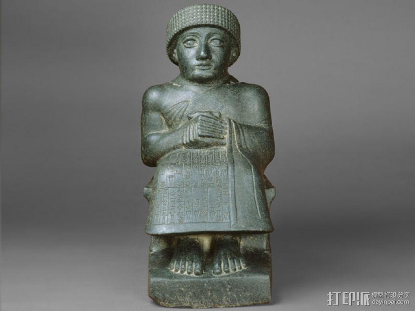 苏美尔人雕像模型 3D打印模型渲染图