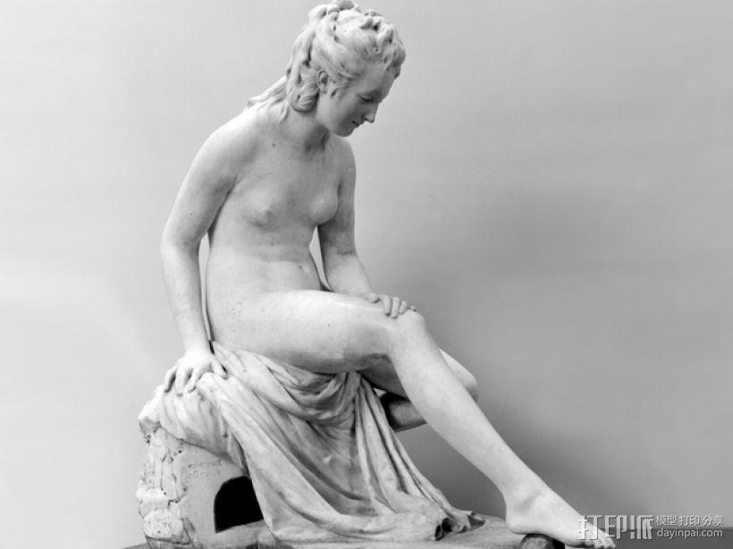 出浴者 雕塑模型 3D打印模型渲染图