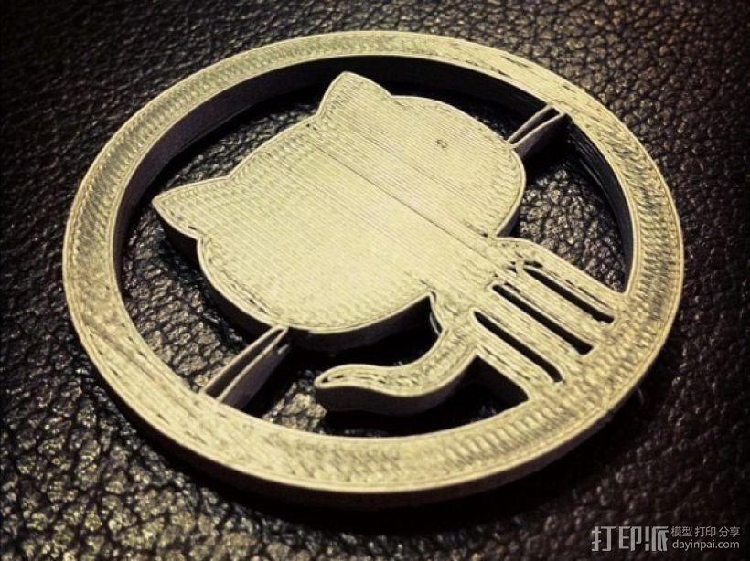 Github 章鱼猫标识 3D打印模型渲染图