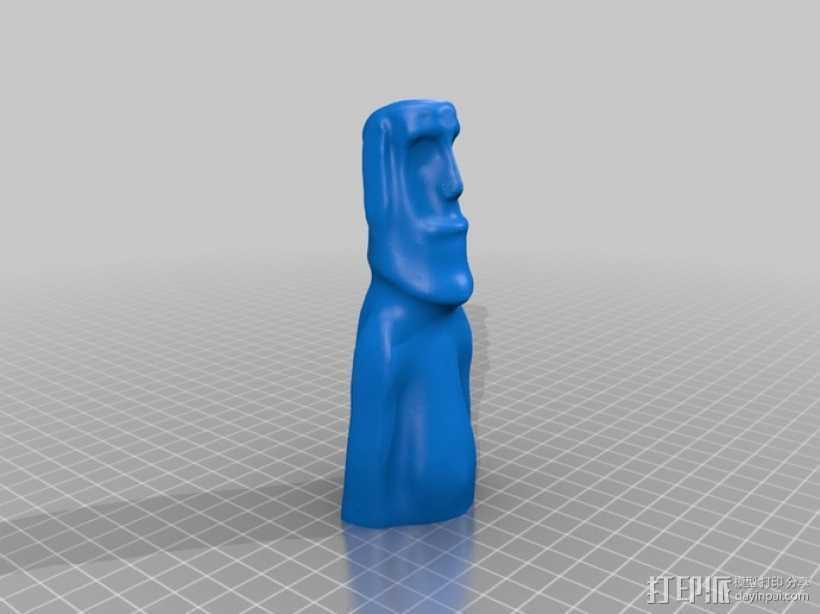 复活节岛石像 3D打印模型渲染图
