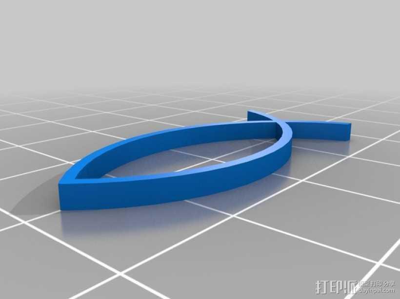 水生动物标志 鱼 螃蟹 3D打印模型渲染图