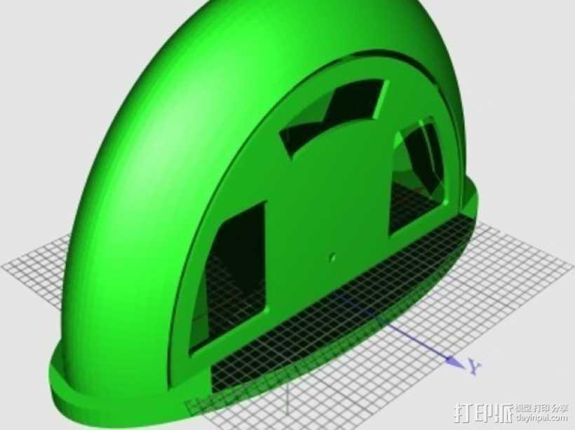 收音机外壳  3D打印模型渲染图