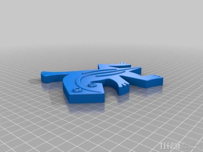 埃舍尔蜥蜴模型 3D打印模型渲染图