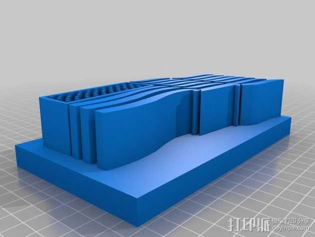 美国国旗 3D打印模型渲染图
