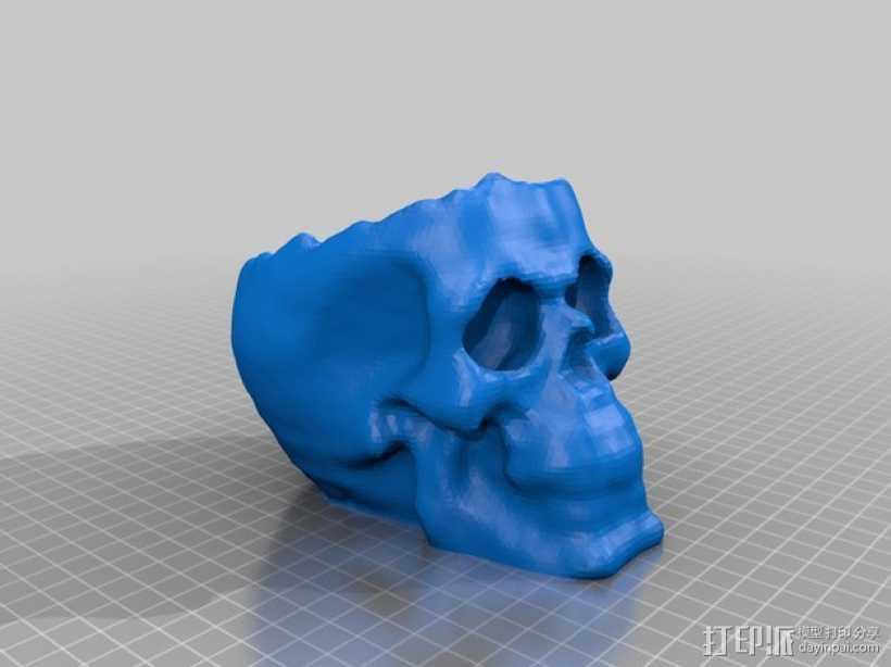 骷髅头 头骨模型 3D打印模型渲染图