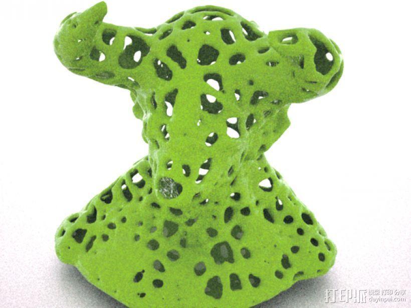 泰森多边形公牛模型 3D打印模型渲染图