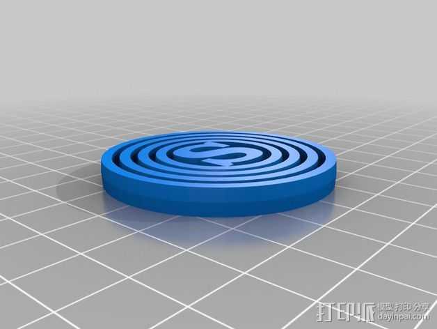 字母平衡环  3D打印模型渲染图