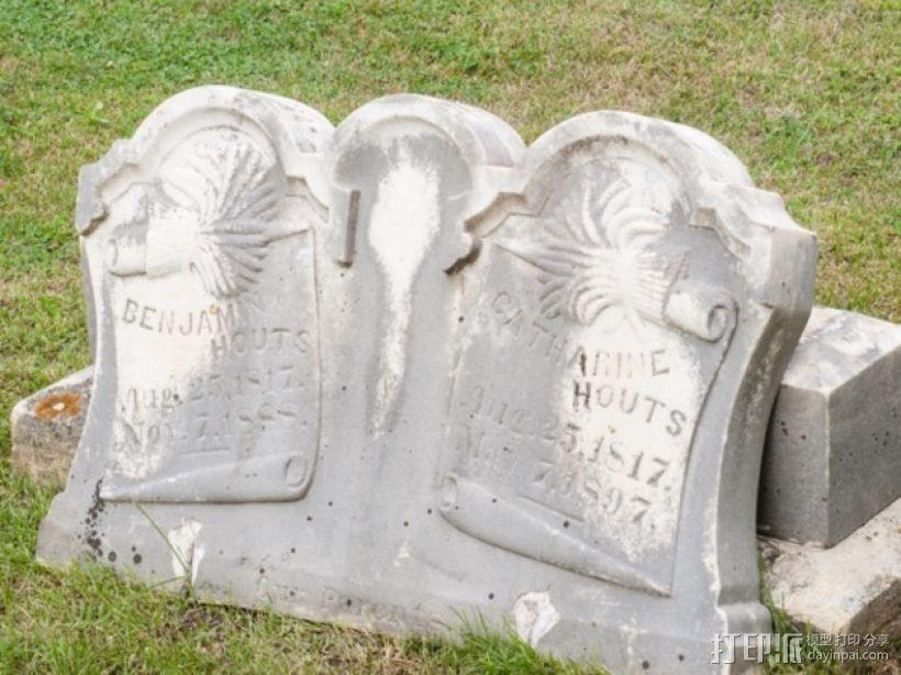 Hout Parents的墓碑模型 3D打印模型渲染图