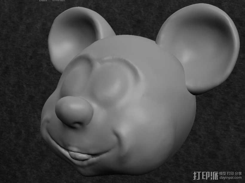 米奇头像模型 3D打印模型渲染图