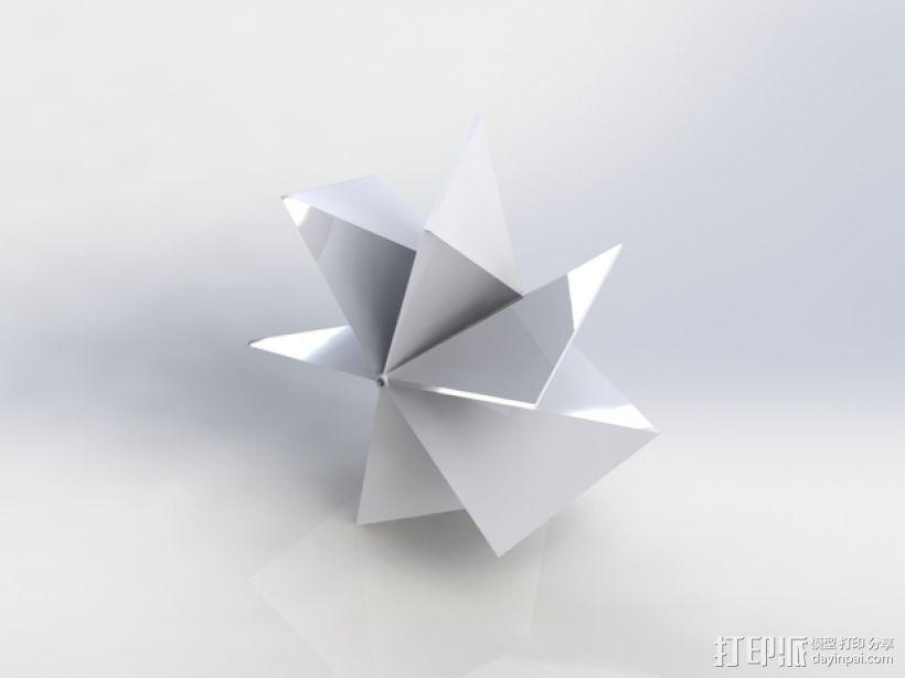 几何形螺旋浆 推进器 3D打印模型渲染图