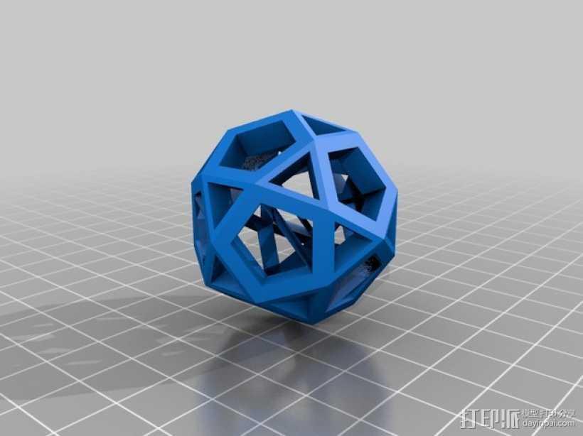 截半二十面体  3D打印模型渲染图