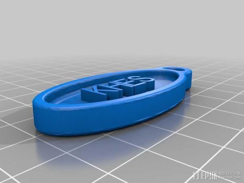 KHES 3吊坠 标志  3D打印模型渲染图