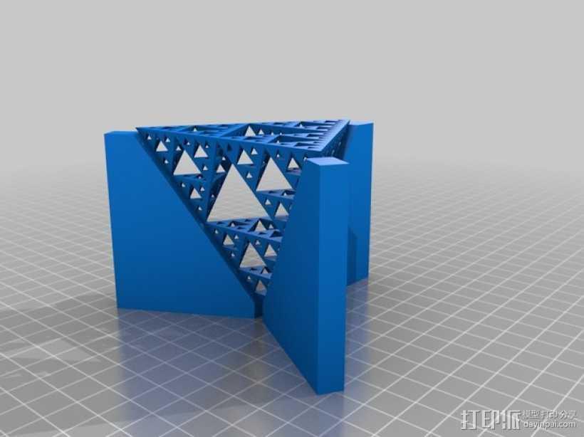 谢尔宾斯基三角模型 3D打印模型渲染图