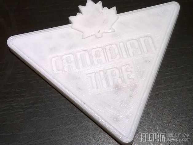 Canadian Tire加拿大轮胎公司标志 3D打印模型渲染图