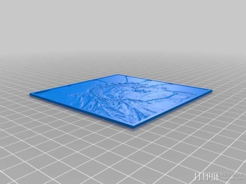 自由女神像透光浮雕 3D打印模型渲染图
