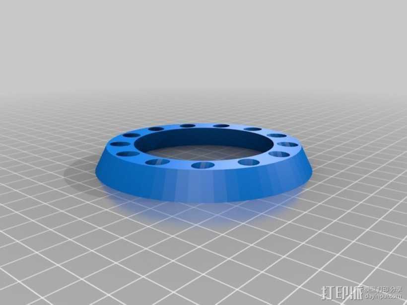 圆环形笔架 3D打印模型渲染图