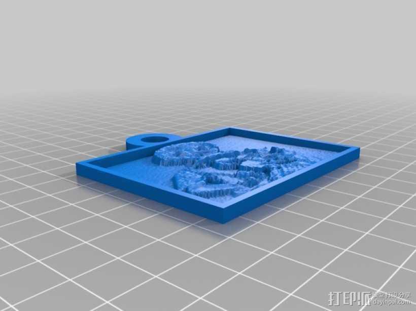 透光浮雕 3D打印模型渲染图