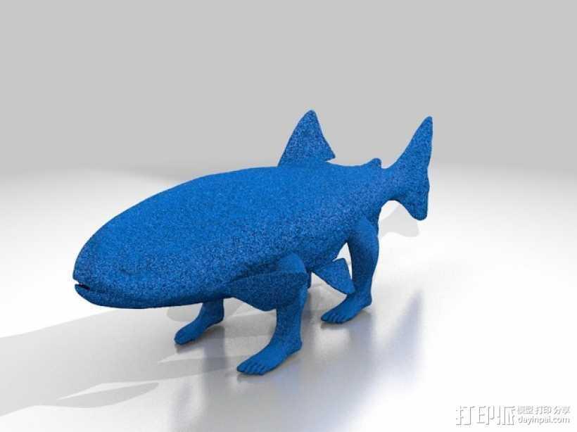 进化前的鱼模型 3D打印模型渲染图