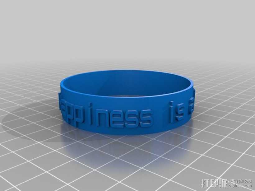 特制手环 3D打印模型渲染图