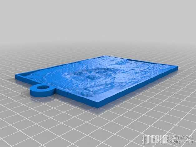 浮雕吊坠 3D打印模型渲染图