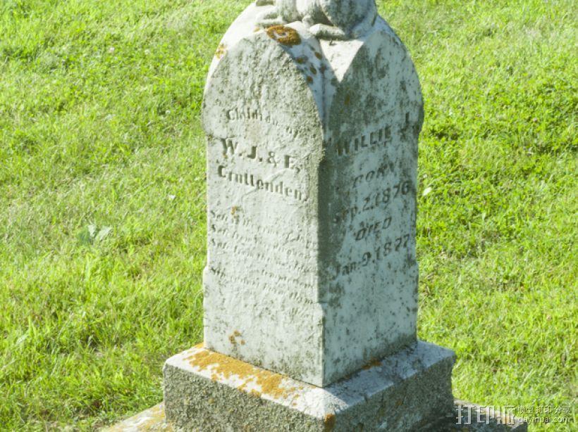 墓碑 3D打印模型渲染图