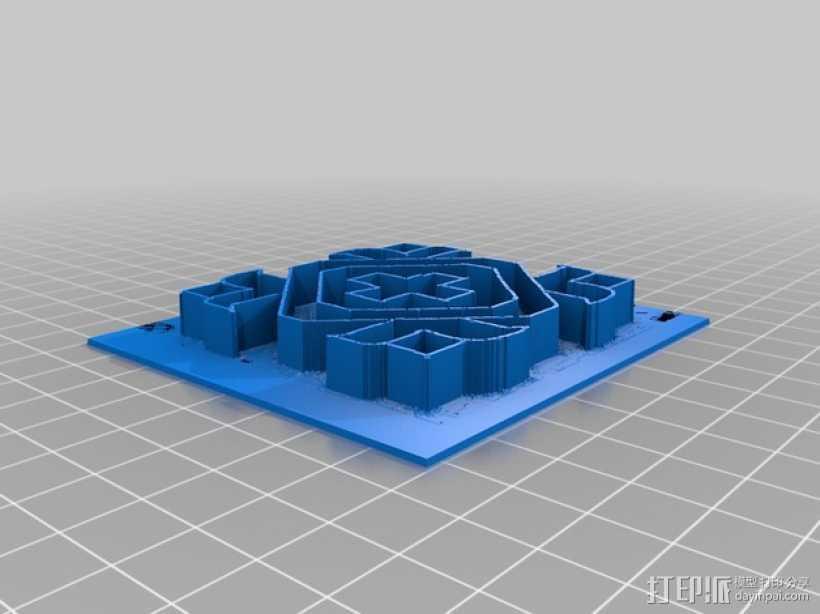 蓝果丽 3D打印模型渲染图