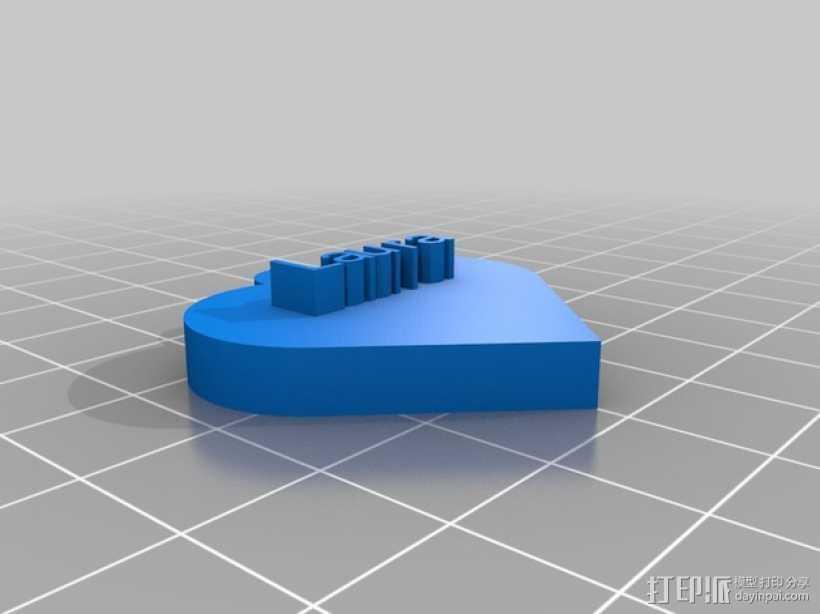 Laura爱心 3D打印模型渲染图