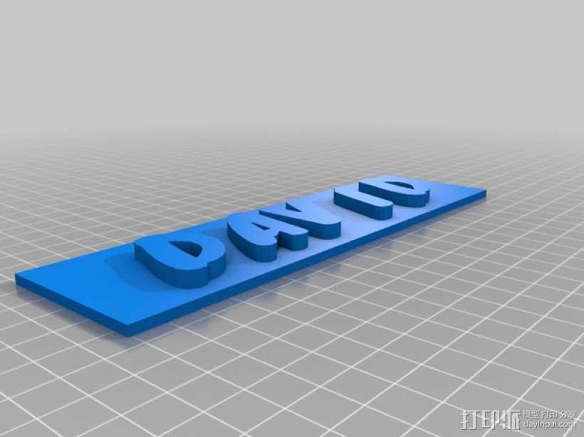 名牌 标签 3D打印模型渲染图