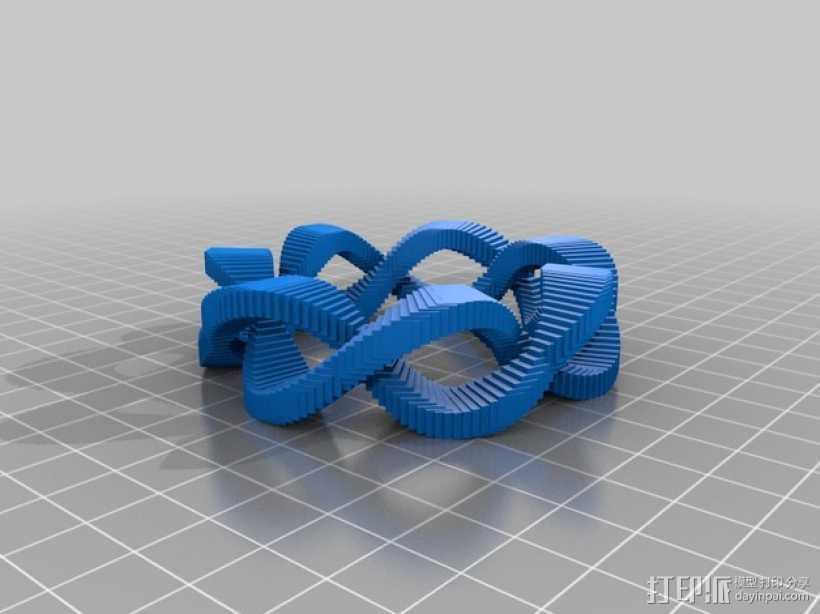 双曲线圆环 3D打印模型渲染图