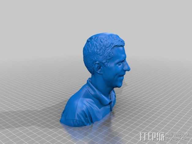 人像雕塑 半身像模型 3D打印模型渲染图