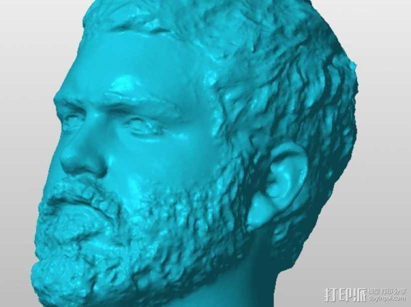 Jerod头像雕塑 3D打印模型渲染图