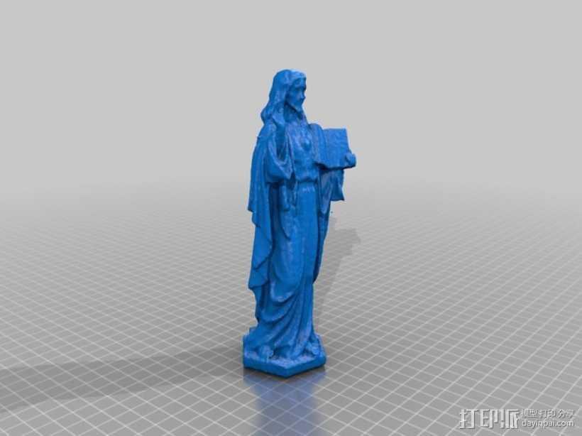 耶稣雕塑 3D打印模型渲染图