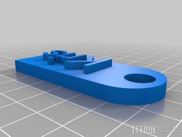 名牌标签 钥匙扣 3D打印模型渲染图