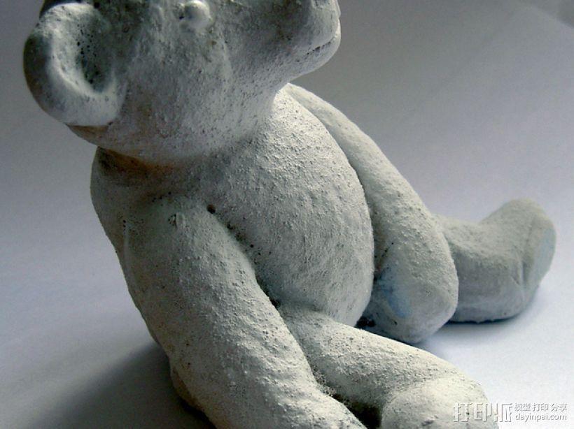 泰迪熊玩偶 3D打印模型渲染图