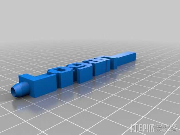 Logan字母模型 笔套 3D打印模型渲染图