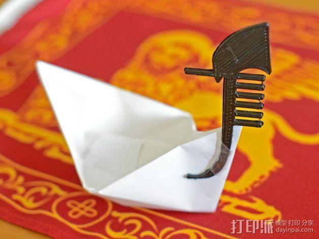 平底船的船头铁 3D打印模型渲染图