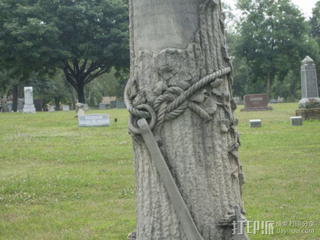 芒特普莱森特公墓墓碑模型 3D打印模型渲染图