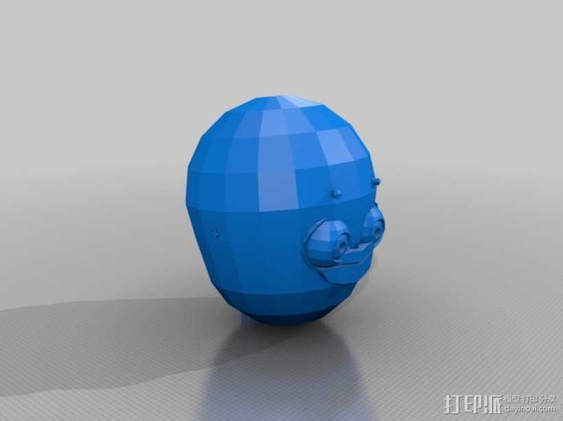机器人头部模型 3D打印模型渲染图