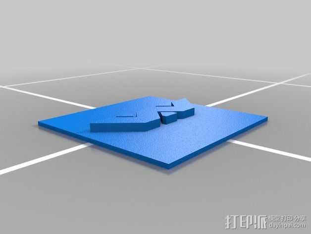 Weland-Yutani Corp标志 3D打印模型渲染图