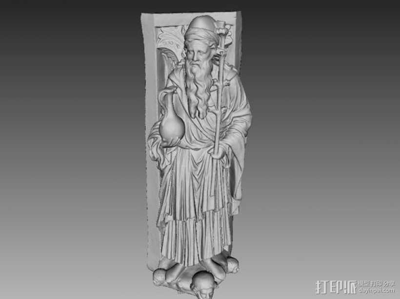 雕塑模型 3D打印模型渲染图