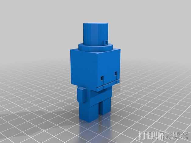 积木人Hatty模型 3D打印模型渲染图