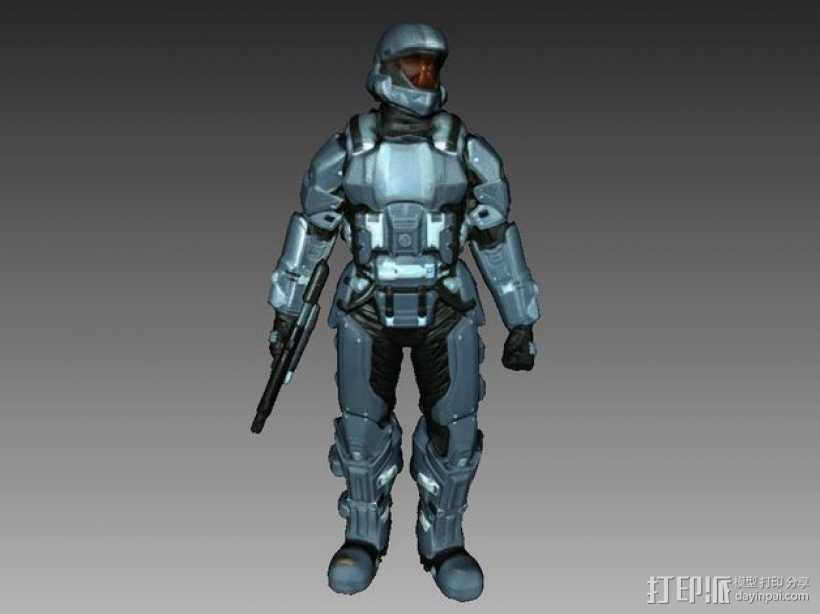 光晕3 士兵模型 3D打印模型渲染图