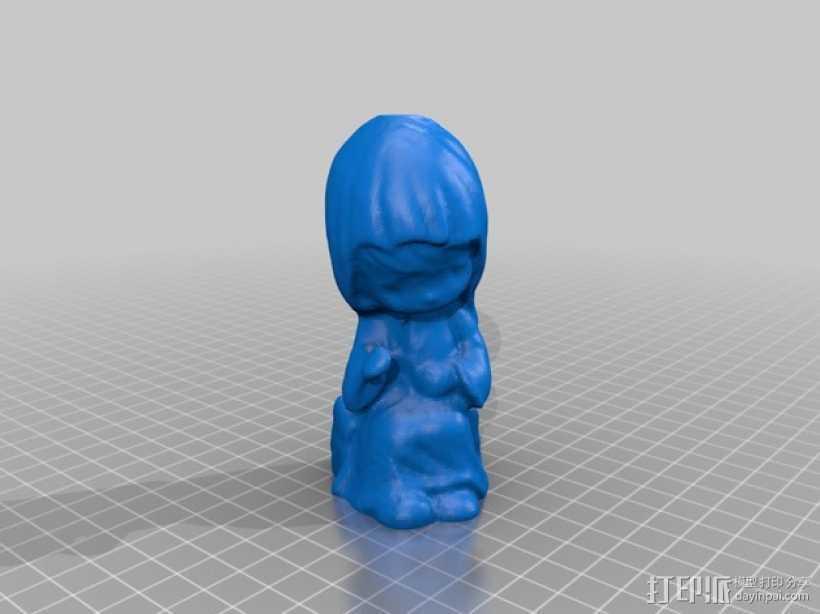 小女孩玩偶 3D打印模型渲染图