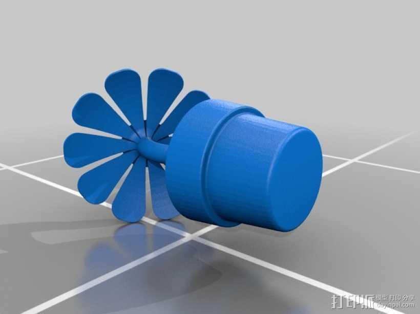 一盆花 太阳花和花盆 3D打印模型渲染图