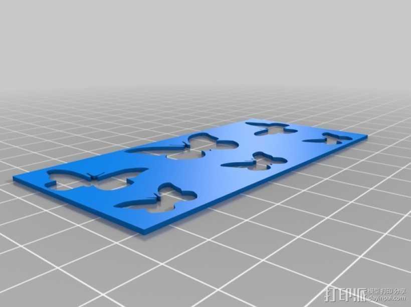 蝴蝶面板 3D打印模型渲染图