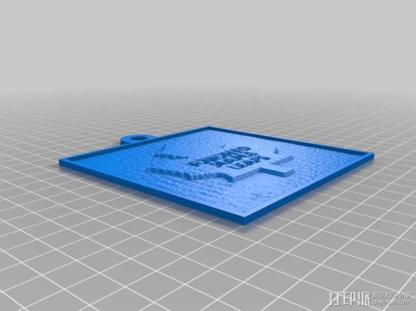 多伦多枫叶透光浮雕 3D打印模型渲染图